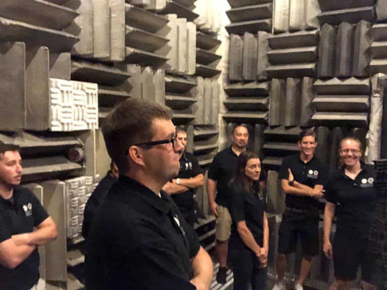 9 MSSE students in Anechoic Test Chamber at FCAAP.png