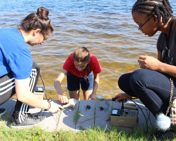Using general purpose survey meters, campers detect naturally occurring radio active materials