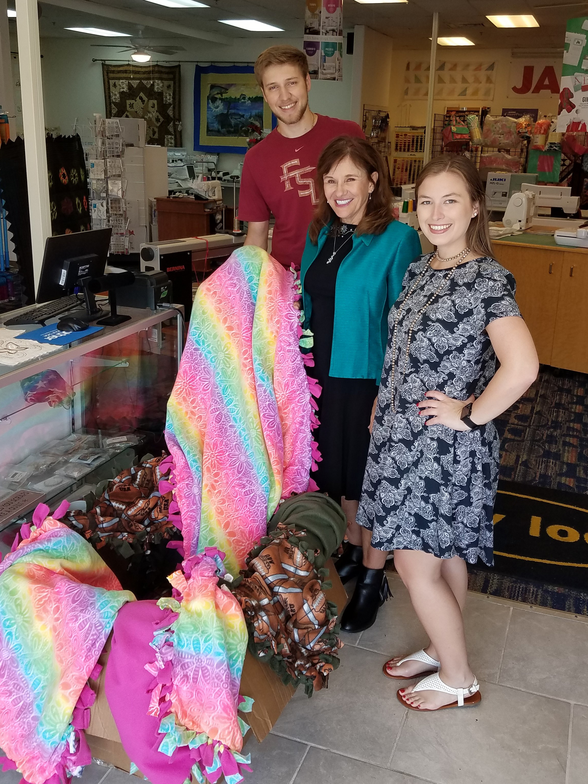 Communication Club blanket donation
