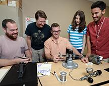 As part of their summer senior design project, five FSU Panama City engineering students developed a Light Admitting Air Warning System to provide divers in low-to-no-visibility situations detailed information about the remaining pressure in their tank.