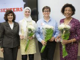 Left to right: Eren Ozgen. PhD, Hinab Rahim, Niki Kelly, Cecile Scoon
