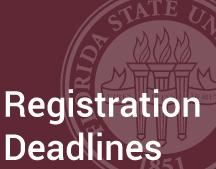 For those students planning to continue their enrollment in the fall 2017 semester, please keep in mind that FSU Panama City students may continue to register for fall classes through Aug. 4.