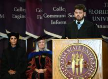 Student Government President, Billy Bradley, speaker at 2019 first-year student convocation