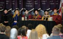 FSU Panama City faculty listen to opening words at first-year convocation