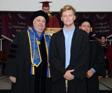 First-year student at 2019 convocation