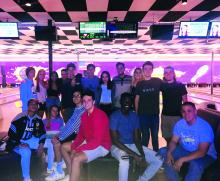 "Students participated in ""Welcome Back Bowling"""