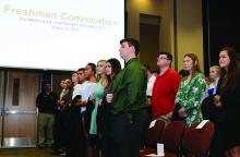Incoming freshmen are honored at Freshman Convocation
