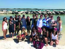Students kicked off the summer semester with a trip to Shell Island