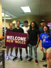 Current FSU Panama City students welcome freshmen to campus