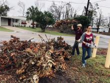 Admissions team assist Lynn Haven Elementary in hurricane cleanup