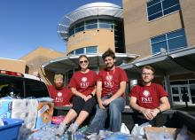 Student involvement in hurricane recovery