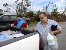 Hurricane survivors get needed supplies
