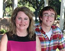 Debra Spradley and her son already shared a love of math; now they will share an alma mater. Matthew Spradley started studying computer science this fall as a freshman at FSU Panama City.