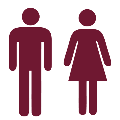 graphic of male and female figures